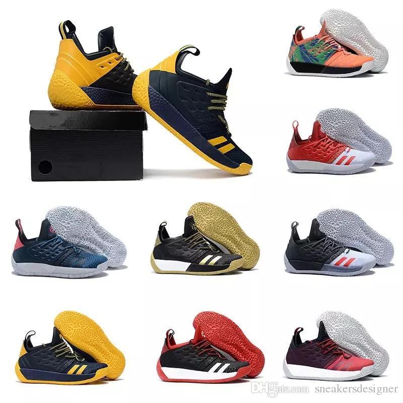 100% authentic 9203c 6b683 Acheter New Harden Vol. 2 Chaussures De Basketball Pour Homme Noir Blanc  Orange En Gros De La Mode James Harden Chaussures Baskets Taille EUR 40 46  De ...