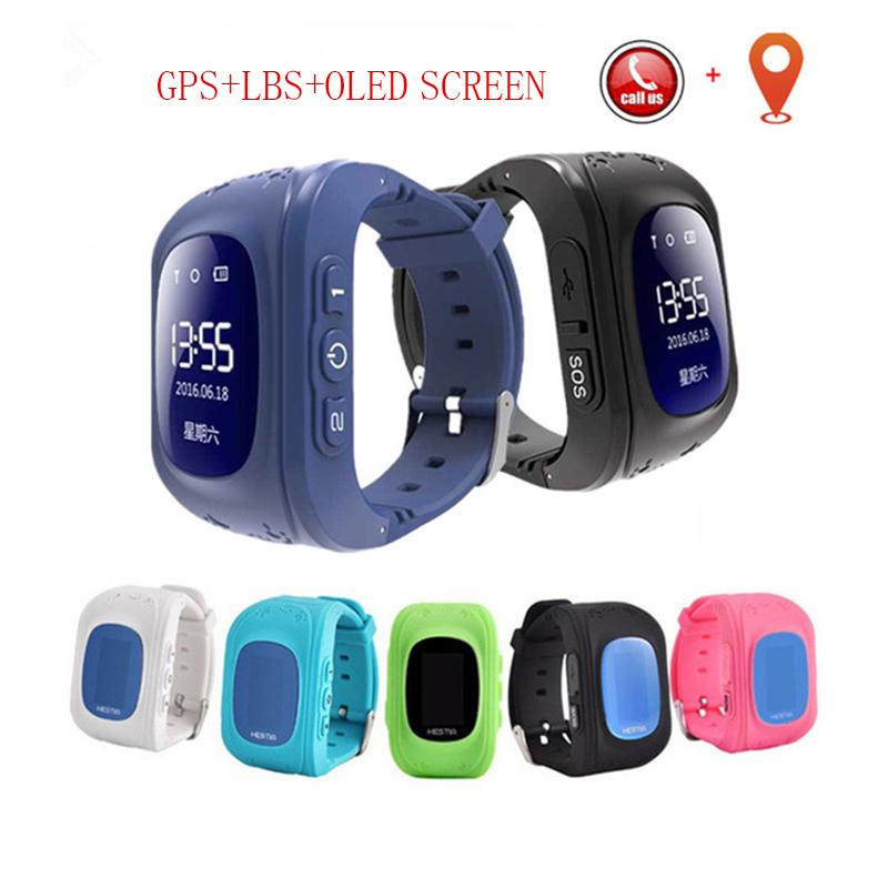 LED-Schirm GPS-Smart-Kinderuhren SOS-Ruf Location Finder Locator Tracker für Kind-verlorene-Monitor Baby Watch für IOS 2019
