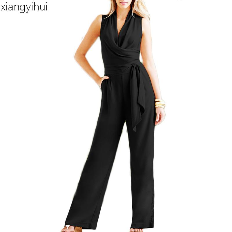 Elegant White Women Jumpsuit 2018 Body feminin Fashion Women Summer Rompers Autumn Long Sleeve Women's Jumpsuits Casual
