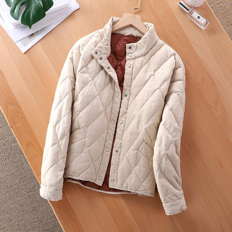 2019 Winter Down Jacket For Girls 2019 New Corduroy White Duck