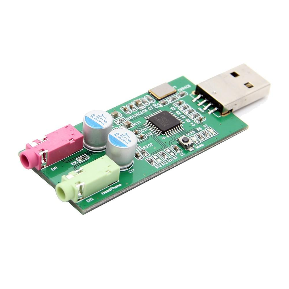 Freeshipping Raspberry Pi PCM2912A USB Audio Card UAC DAC Expansion Board  Audio Module w/ Microphone Input for Raspberry Pi 3 B / Windows