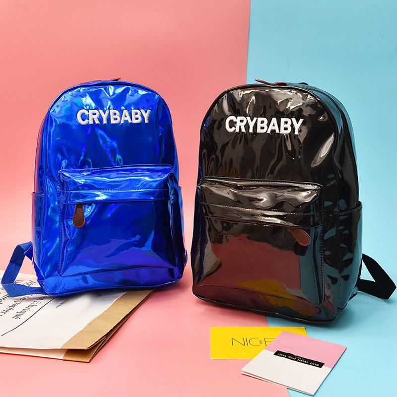 9ad3591ed5 2019 New Women Rainbow Holographic Shining Backpack Pu Leather School Bag  Travel Shoulder Bags Good Quality Toddler Backpacks Mens Backpacks From  Starfive03 ...