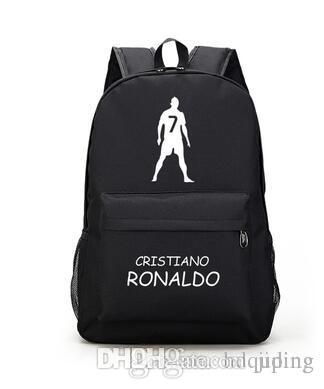 Cristiano Ronaldo backpack Football star school bag Soccer cr7 day pack Super player rucksack Sport schoolbag C 7 daypack Canvas bag