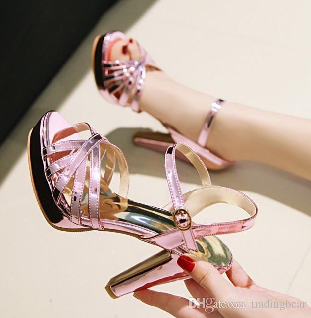 Artı boyutu 32-42 43 lavanta tıknaz topuk gelin düğün ayakkabı elbisesi elbise ayakkabı 10 cm balo