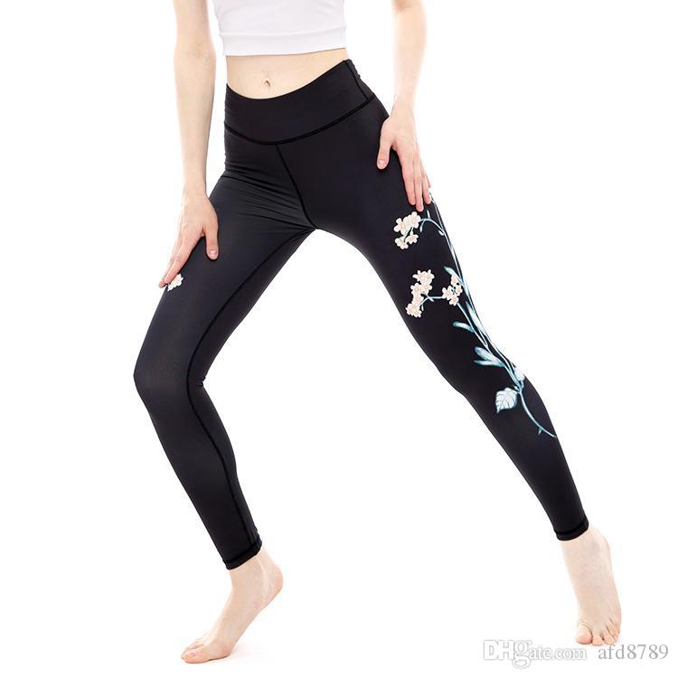 cf94afa5c 2019 Sport Leggings High Waist Compression Pants Gym Clothes Sexy Running  Floral Print Yoga Tights Women Fitness Yoga Pants From Afd8789