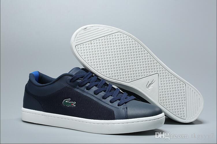 6fddc38f875 Compre LACOSTE Para Hombre Scarpe Casual Calzado Deportivo Zapatos De Lona  Zapatillas Casuales Mujer Chaussures De Designer Zapatillas Zapatos De  Negocio ...