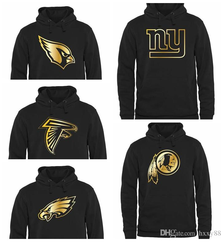 reputable site 1ff02 6625c Men s Atlanta Falcons Philadelphia Eagles New York Giants Washington  Redskins Cardinals Pro Line Gold Collection Pullover Hoodie
