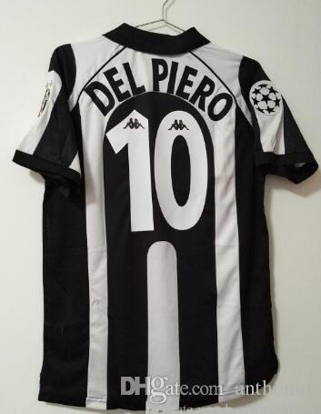 reputable site bac31 901d6 Retro 1997 98 Juventus Centenary Alessandro Del Piero 10 ZIDANE home Soccer  Jersey Football Shirt Trikot Maglia Camiseta De Fútbol Juventus