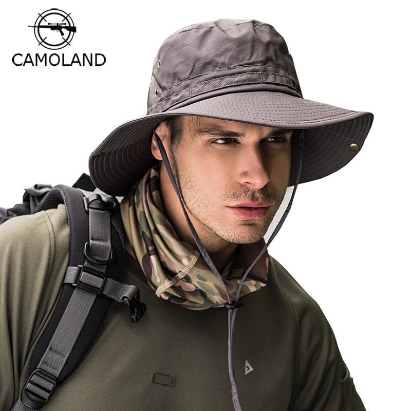 0a4d32feb959d UPF50+ Lightweight Sun Hat Women Men Mesh Bucket Hat Summer Fishing Hiking  Cap UV Protection Flap Breathable Beach hat Outdoor C18122501