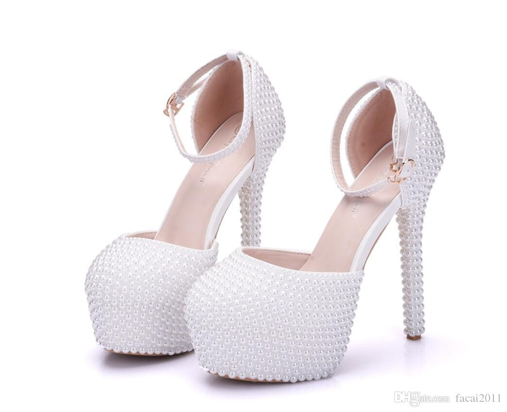 16720ef75f7 New high heeled sandals full pearl heels white beige pearl shoes jpg  1045x850 Pearl heels