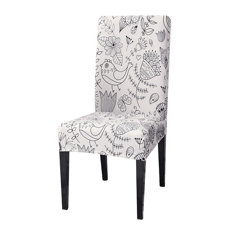 Astonishing Stretch Spandex Removeable Dining Room Chair Covers Living Room Kitchen Restaurant Wedding Decoration Seat Chair Covers Elastic Machost Co Dining Chair Design Ideas Machostcouk