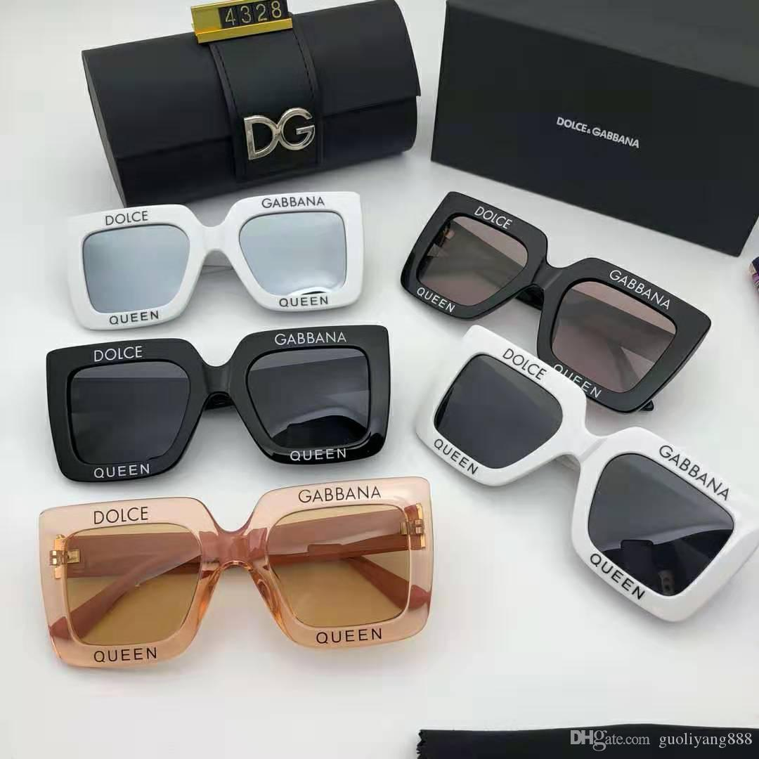 Fashion Brand Large frame driving glasses luxury women's wear brand designer square summer full picture frame quality anti uv with box or no
