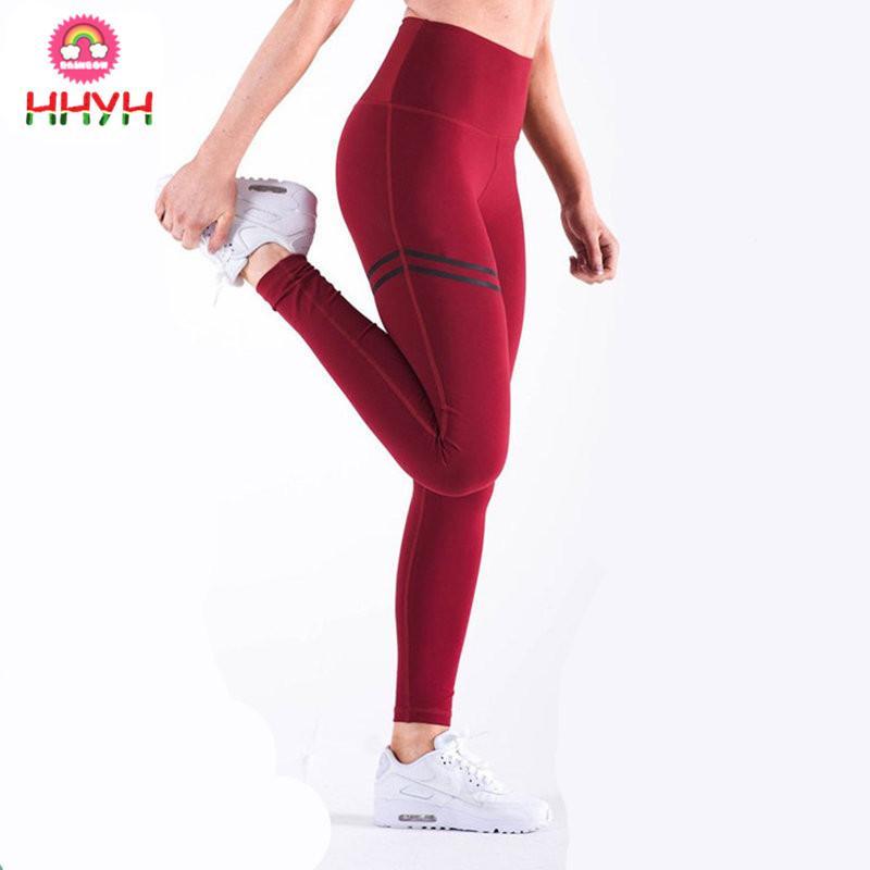 57c83be56 Compre Pantalones De Yoga De Alta Elasticidad Fitness Leggings Deportivos  Medias De Mujer Correr Ropa Deportiva Pantalón Deportivo Gimnasio Chica  Pantalones ...
