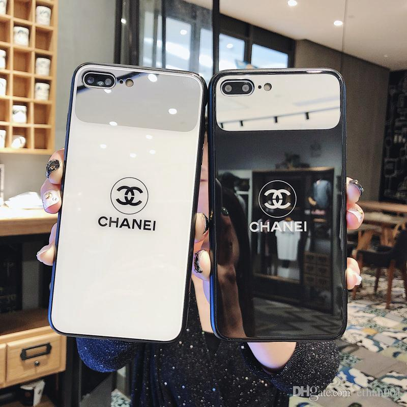 Fashion Tide Glass Mirror phone cover case for iPhone 6 6s 7 8 8plus XR X back cover for Apple iphone x xr 7plus case for iphone xs max