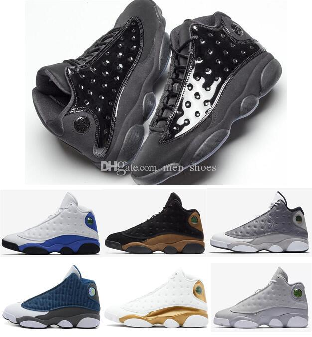 763518b40a1f High Quality 13 Cap And Gown Hyper Royal DMP Wolf Grey Basketball Shoes Men  13s Olive Brown Olive Green Sports Sneakers With Box Kids Basketball Shoes  ...