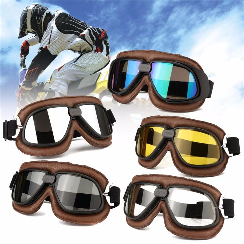 Universal Motorcycle Scooter for Pilot Helmet Goggles Glasses Motorcross Anti-UV Eyewear For Harley