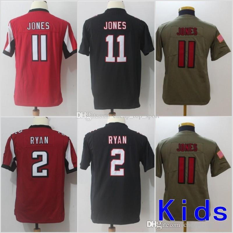 7d080e061 2019 Youth Atlanta Jerseys 11 Julio Jones Falcons 2 Matt Ryan Black Red  Grey Salute To Service Limited Kids Size S XL From Cheap_top_sport, $27.41  | DHgate.
