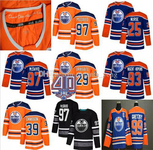 cf9fd1de5 2019 Men Women Youth 40th Patch Edmonton Oilers Jerseys Cheap Connor ...