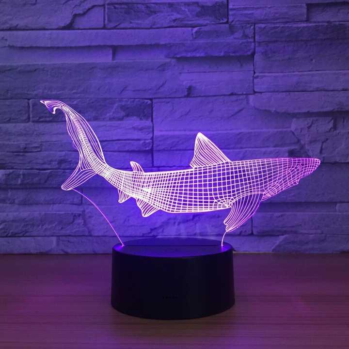 Lampe Nuit Table Explosionhome Chambre De Petite 3d Électronique Poisson Colorée Chevet Touche 08nkwOP
