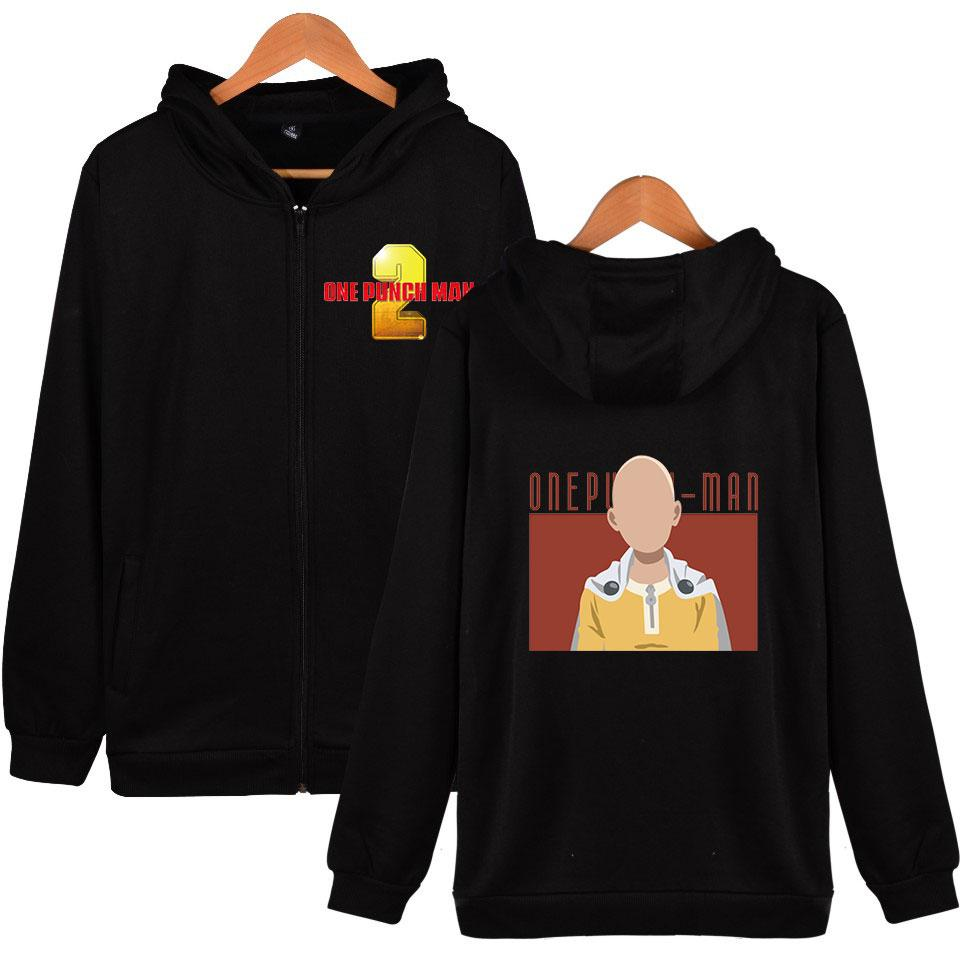 Anime One Punch Man Season 2 2D Print Zipper Hoodies Sweatshirt Cute Women/men Fashion Hoodies Zippers