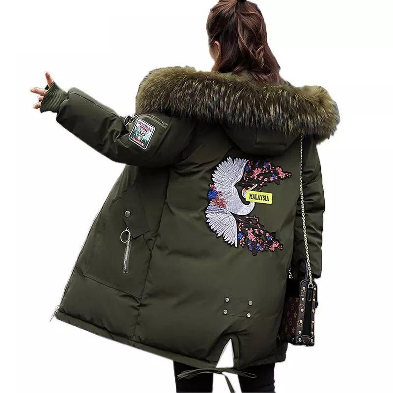 1ef0e175369 Plus Size Winter Women Jacket Long Thick Parka Jacket Big Fur Hooded Winter  Coat Warm Down Cotton Jackets Women Jaqueta Feminina Parkas Cheap Parkas  Plus ...