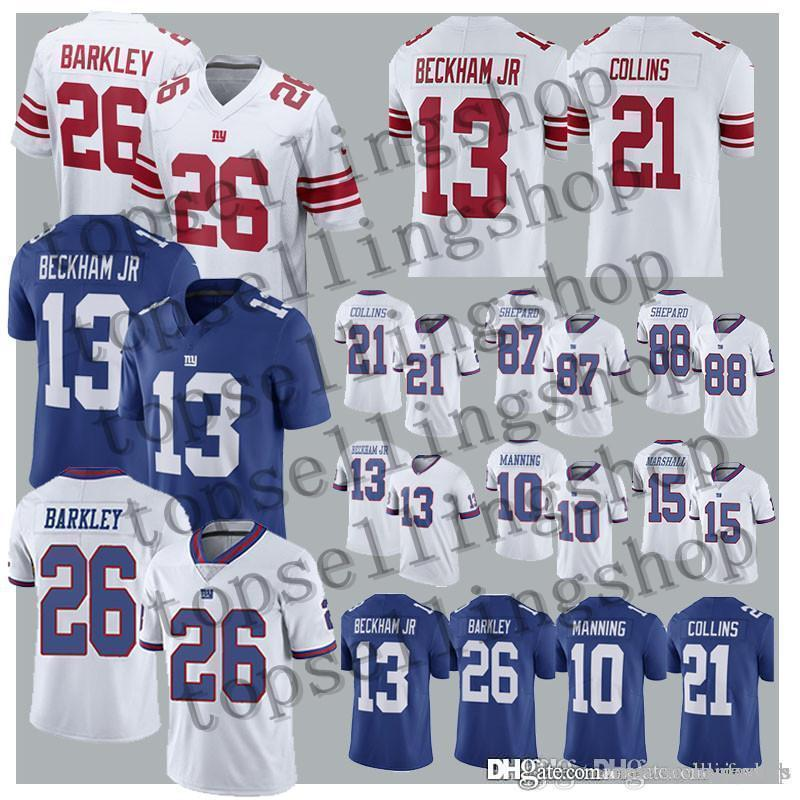 official photos 96104 21a8f 26 Saquon Barkley New York Gaint jersey 13 Odell Beckham Jr 10 Eli Manning  21 Landon Collins 87 Sterling Shepard jerseys