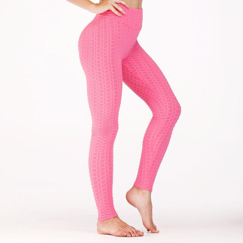 40a03c5eb Compre 2019 Nuevas Polainas De Yoga Mujer Fitness Sólido Cintura Alta Deporte  Leggings Chica Push Up Correr Medias Pantalones Ropa Deportiva Pantalones  ...
