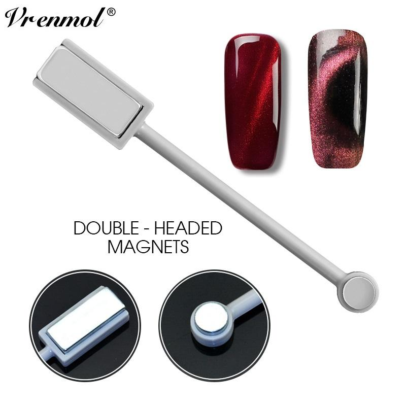 Vrenmol 3D Magnet Double-headed Magnetic Plate Pen Strong Magnet for All UV Cat Eye Nail Gel Polish Nail DIY Tools