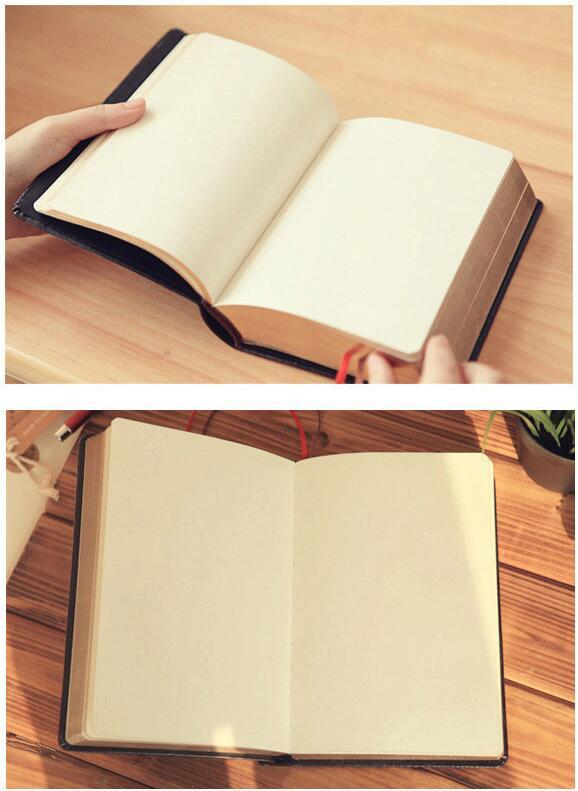 Large Size Paper Notebook Notepad Leather Bible Diary Book Zakka Journals  Agenda Planner School Office Stationery Supplies