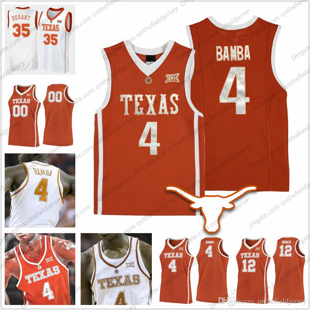 huge discount 8c5c5 8f3b9 Custom Texas Longhorns #4 Mohamed Bamba Mo Retro College Basketball Jersey  orange white Stitched Any Name Number 12 Kerwin Roach NCAA S-3XL