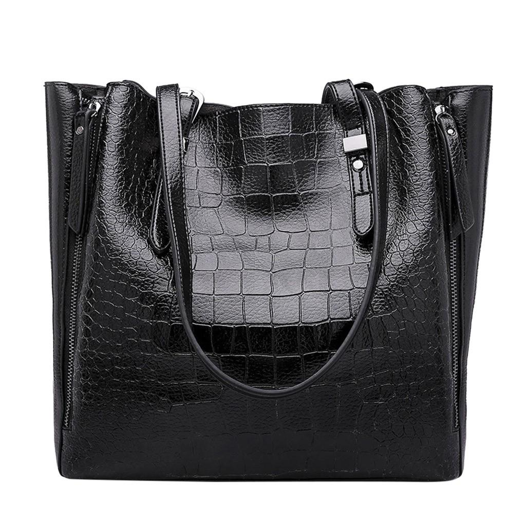Women Shoulder Bag Fashion Women Handbags Crocodile Leather Large Capacity Tote Bag Casual Pu Leather Messenger #0930