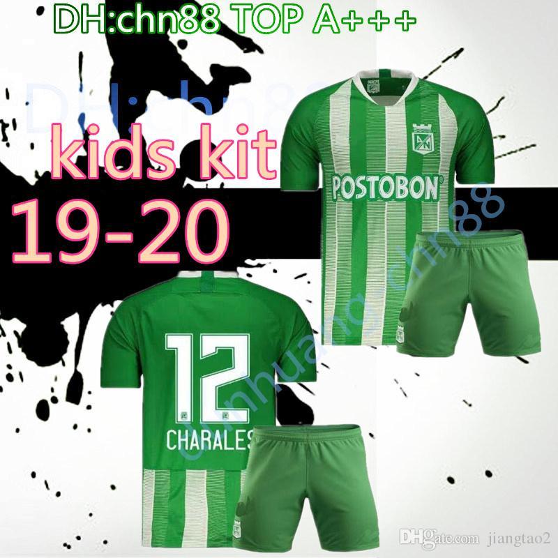 be96d5f66e685 Compre 2019 2020 Jersey De Fútbol Atlético Nacional De Medellín MORENO  TORRES RENTERIA LUCUMI Copa Infantil Libertadores 19 20 Camiseta De Fútbol  Local KIDS ...