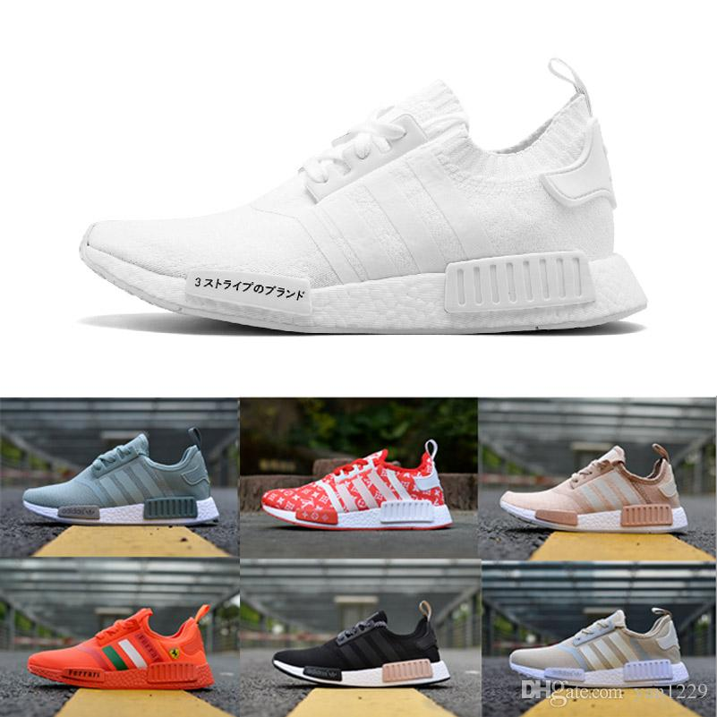 finest selection 831a4 009a4 AAA+ NMD R1 Running Shoes Men Undefeated Primeknit PK brown black yellow  Sneakers Man orange red NMD Runner R1 Sports Shoes Mens