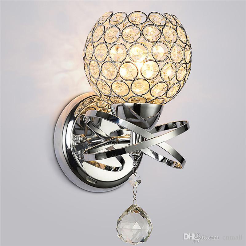 Licht & Beleuchtung Led-lampen Moderne Stil Zu Hause Beleuchtung Wohnzimmer Wand Lampe Luxus Kristall Lampenschirm Anhänger Wand Licht Halter