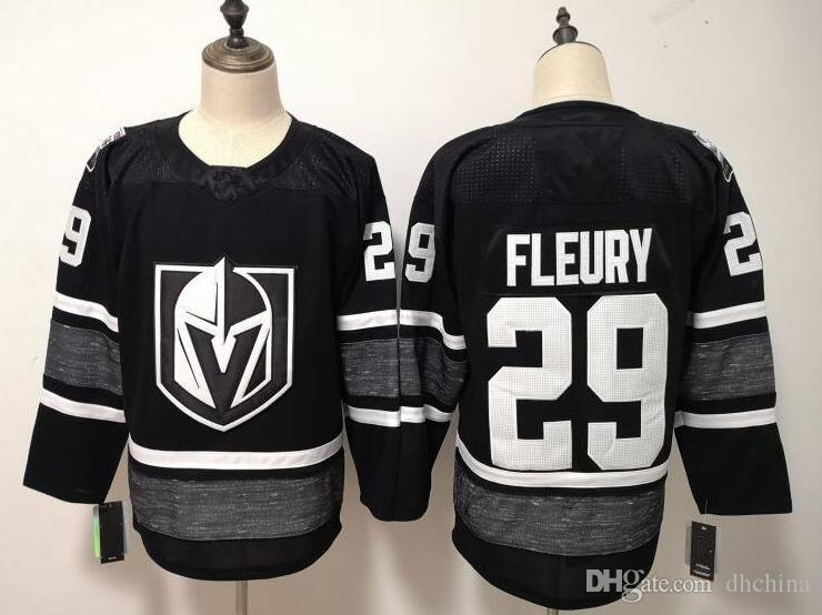 buy popular dc6d9 c08dc 2019 All Star Jerseys Vegas Golden Knights #29 Fleury Jersey New Hockey  Jersey Black White S-XXXL Mix Order Stitched High Quality Jersey