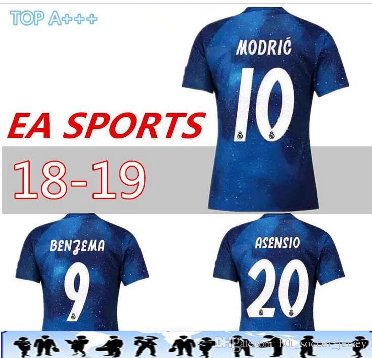 806ae160c4e83 Real Madrid EA Sports Jersey MODRIC MARIANO ASENSIO BALE Champion ...