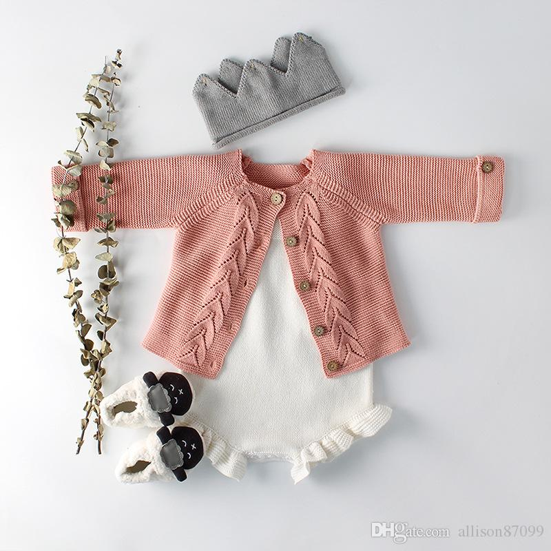 674032e6d69f 2019 Boutique Baby Girl Clothing White Knit Romper Jumpsuit With ...