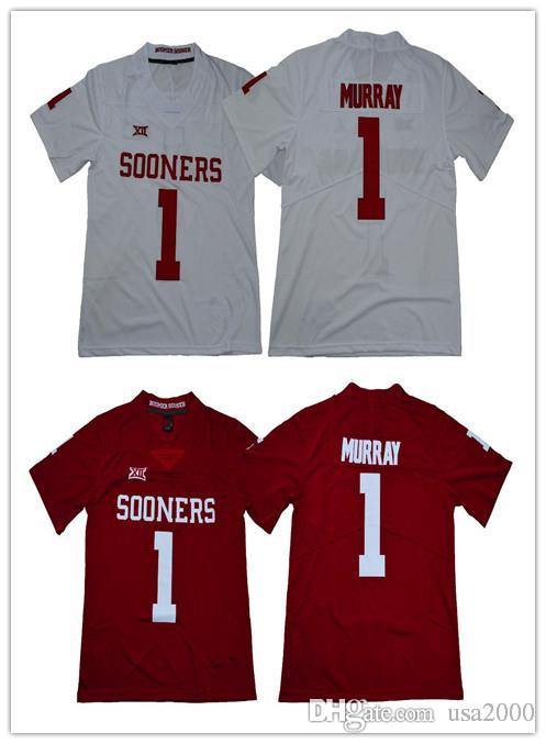 26f7b308717 2019 2018 New NCAA Oklahoma Sooners  1 Kyler Murray  6 Baker Mayfield  Limited Stitched College Football Jerseys From Usa2000
