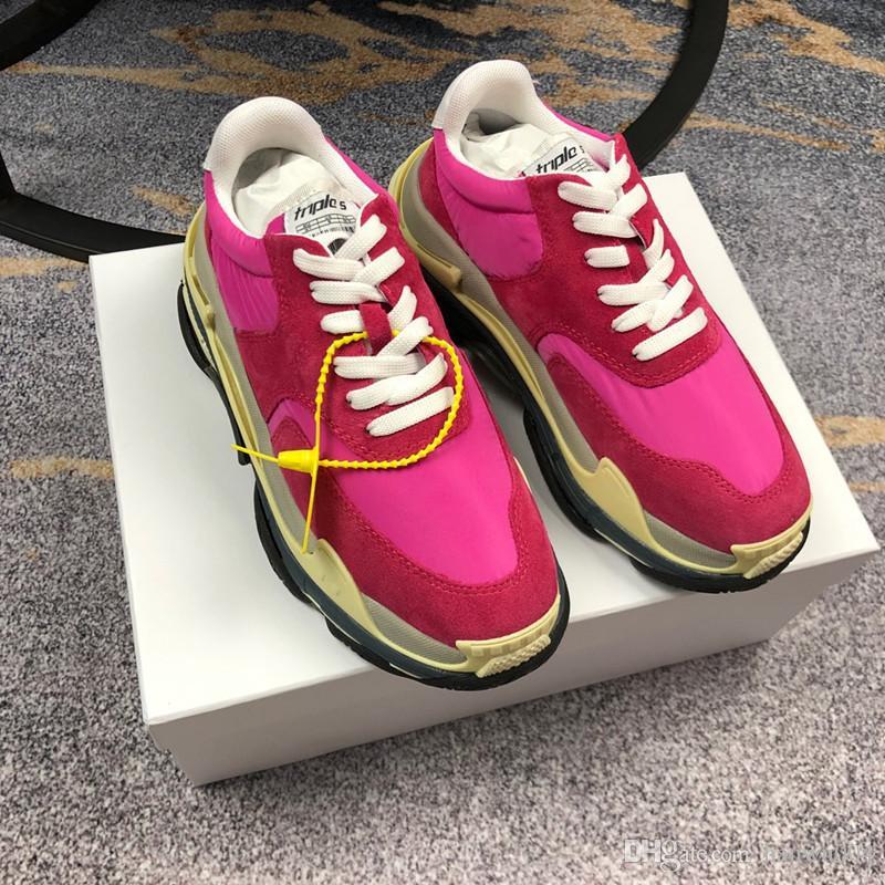 promo code 90275 3a59d Acheter Chaude Luxe Populaire En Cuir Casual Chaussures Femmes Hommes  Designer Baskets Chaussures Mode En Cuir À Lacets Chaussure Mixte Couleur  Gc19011304 ...