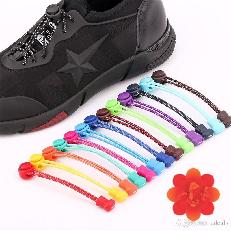 9b35cede68ae 100cm Sneaker Round Shoelaces New Creative Design Elastic No Tie Shoe Laces  Safety Locking Lazy Shoe Lace Downlight Led Led Bar From Adeals