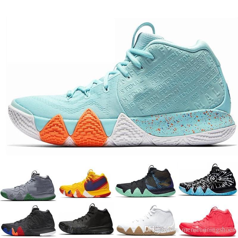 b8792baa206 2019 Kyrie Irving 4s Basketball Shoes For Mens Uncle Drew Triple Black Oreo  70s 80s 90s Mamba Mentality Red Carpet Designer Sport Sneaker 7 12 From ...