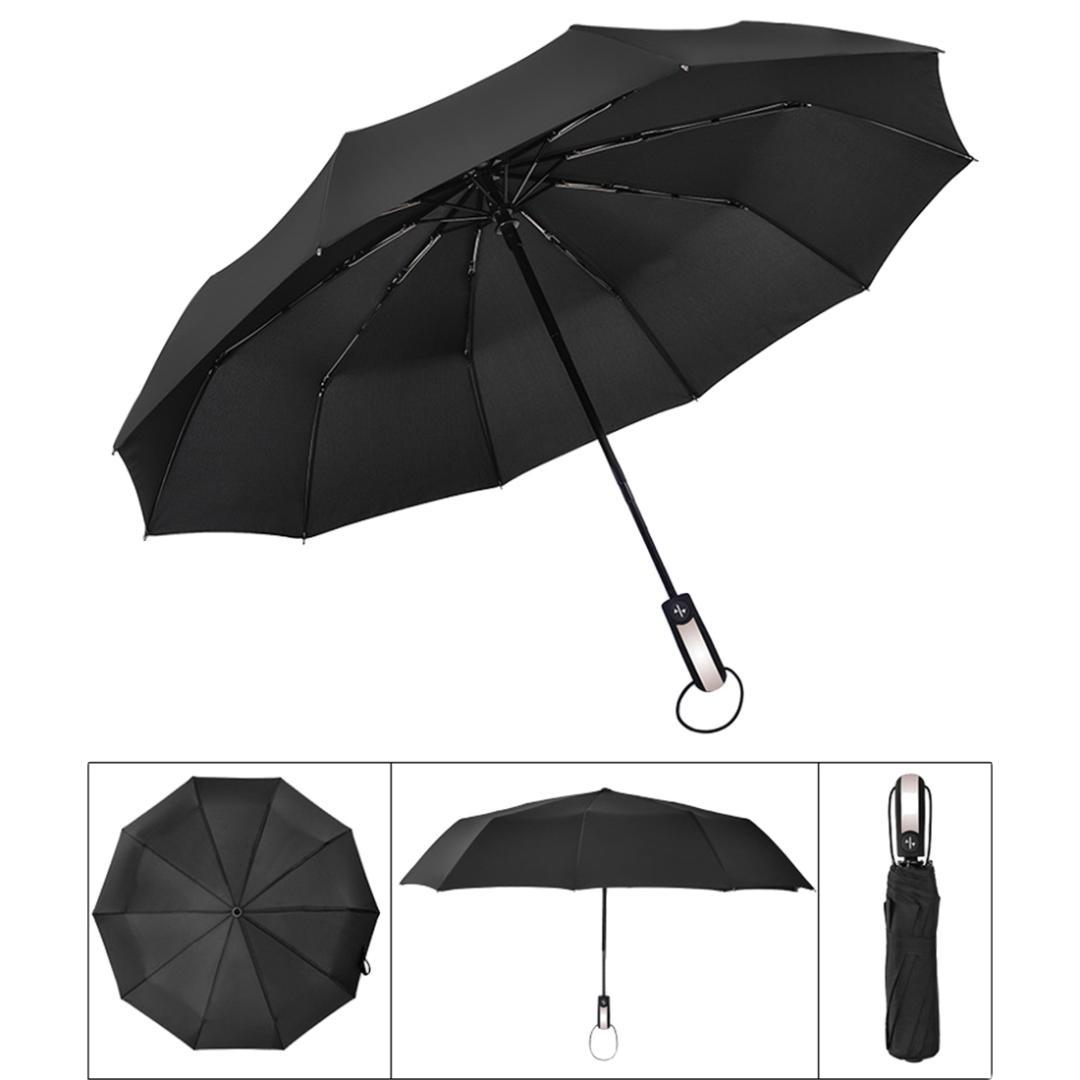 baskets pour pas cher 19e43 04ff9 Nouveau Parapluie Pliant Trois-Homme Pliant Entièrement Automatique  Résistant Au Vent Grand Cadre Forte Coupe-Vent 10Ribs Parasols