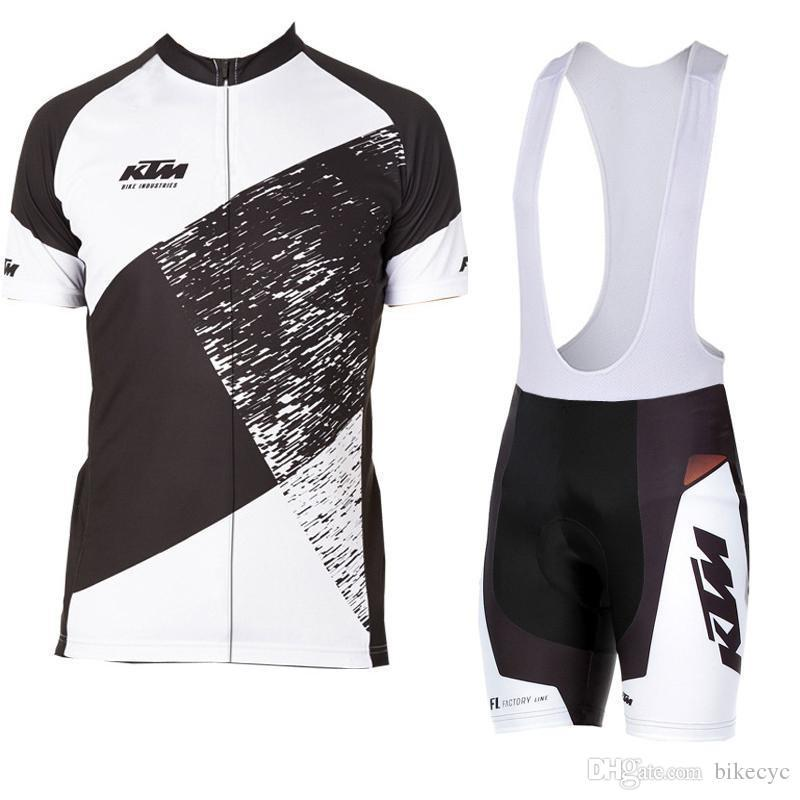 Pantaloncini KTM Team Cycling Short Sleeves (bib) pantaloncini Quick-Dry Bike Kit sottili Cinghia estate bike abbigliamento gel pad Sportwear new F603113