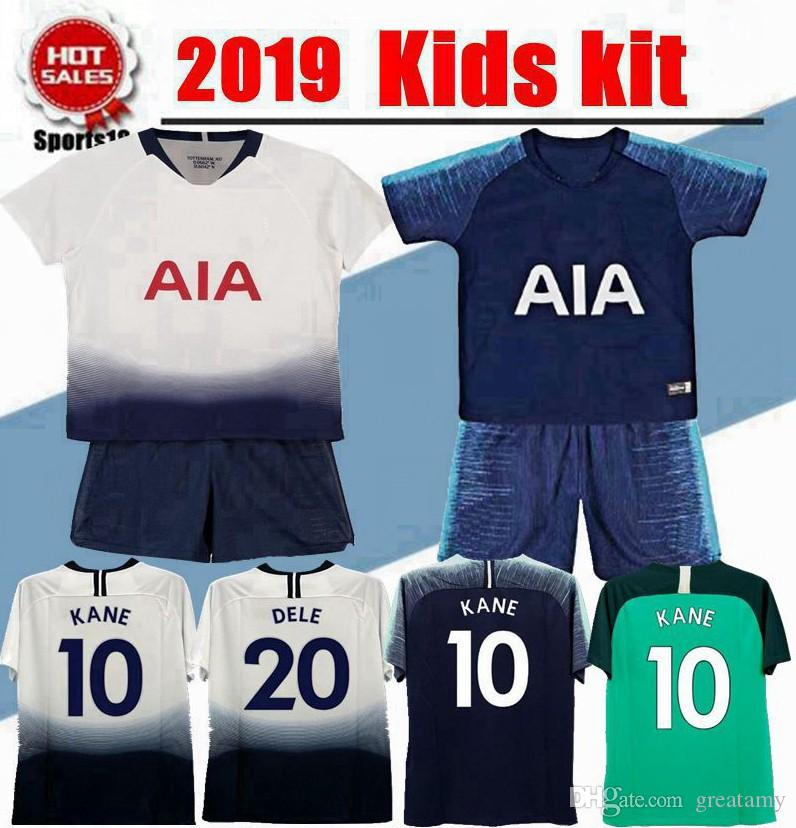 another chance 8c591 c6fbf 2019 kids kit tottenham third jersey child youth boy kit LAMELA ERIKSEN  DELE SON KANE home Away football shirt
