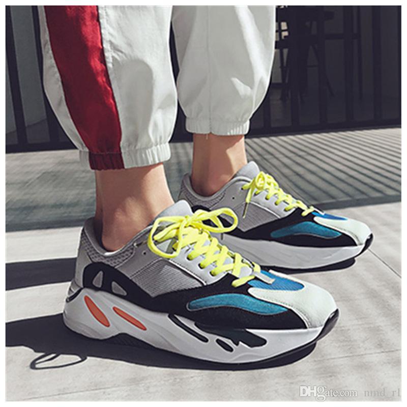 timeless design 9338e 92565 2019 Mauve Kanye 700 V2 Wave Runner Mens Women Designer Sneakers New 700  Static Best Quality Kanye West Sport Shoes