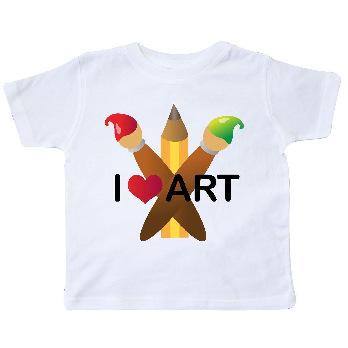 67d71dcb Inktastic I Love Art Painting Toddler T Shirt Artist Paint Brush Brushes  PencilMen Women Unisex Fashion Tshirt Shirt T Shirt Tee From  Customtshirt201801, ...