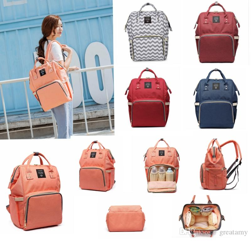 Diaper Bags 100% Quality Fashion Leather Large Capacity Mummy Bag For Infants Diaper Supplies Zipper Handbag Solid Shoulder Messenger Bag Purse Set Mother & Kids