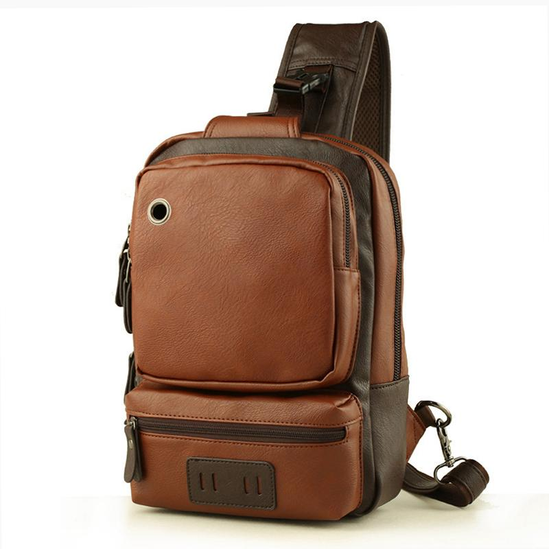 572230b4b345a9 New 2019 Brand Men S Vintage Shoulder Crossbody Bag Male Sling Chest Bags  Casual Large Capacity Quality PU Leather Messenger Bag Cheap Bags Shoulder  Bags ...