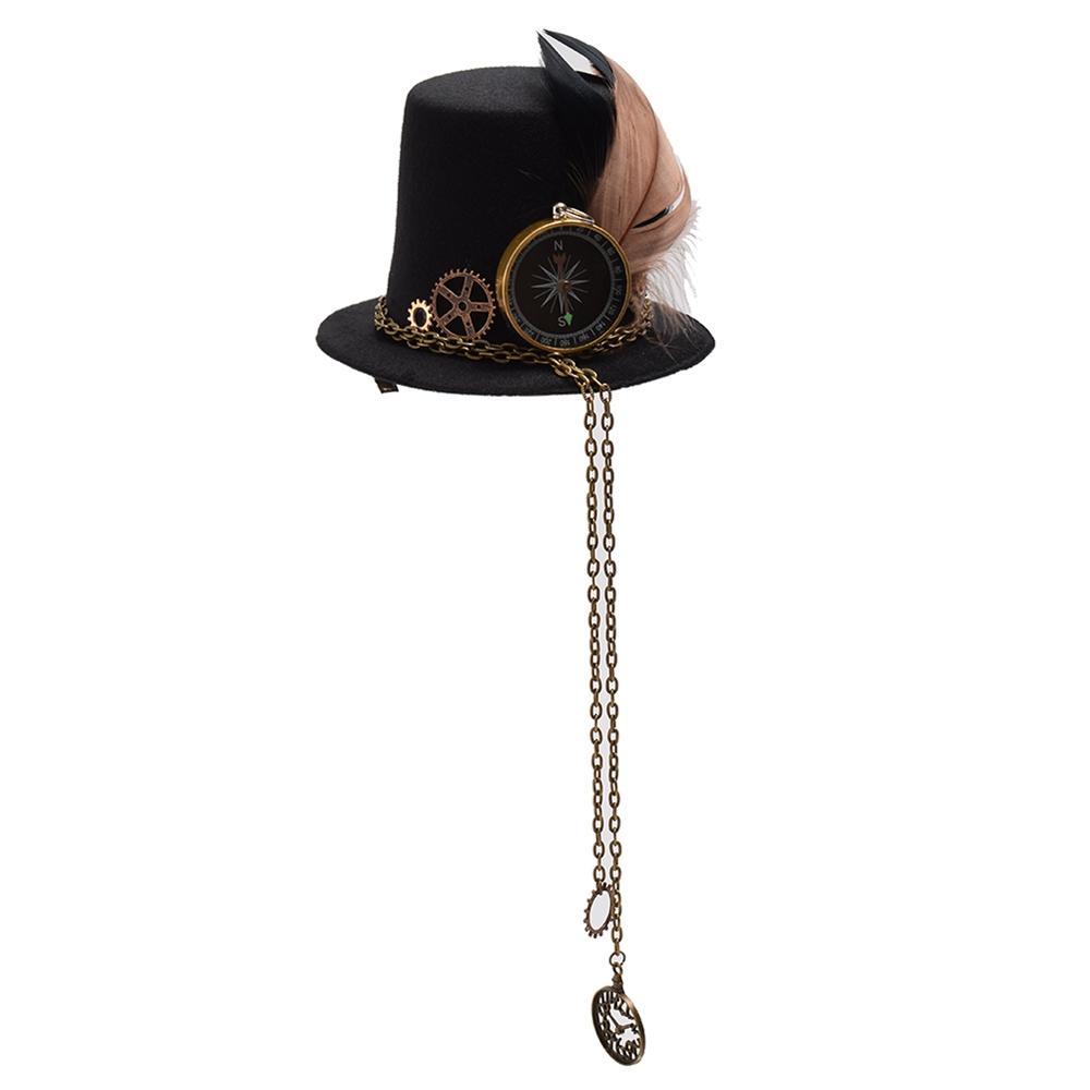 738eab6dfc0ba 2019 Apparel Accessories Headwear Girls Steampunk Mini Small Top Hat Hair  Clip Gear Clock Lolita Punk Head Wear From App003