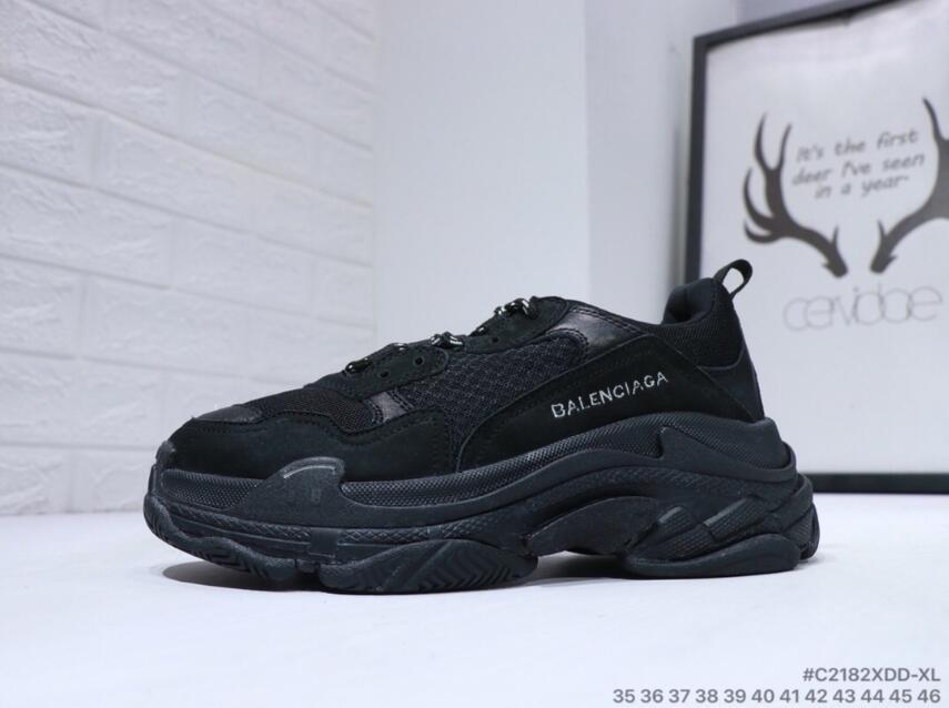 79737fe216d Shoe Boots Fashion For Sale 2018 Fashion Paris Sneaker Triple S Casual Dad  Shoes For Men Women Beige Black Ceahp Sports Designer Size 36 45 Sneakers  Shoes ...